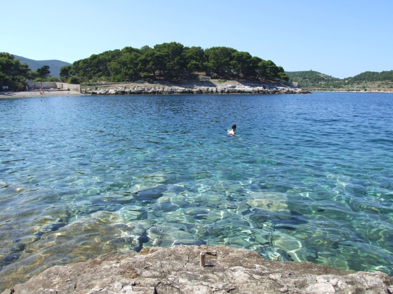 Gorgeous, sparkling blue water and lots of sunshine on Vis, Croatia