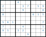 Sudoku board number one.
